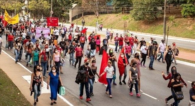 Protesto seguia de forma pacífica rumo ao Palácio dos Bandeirantes