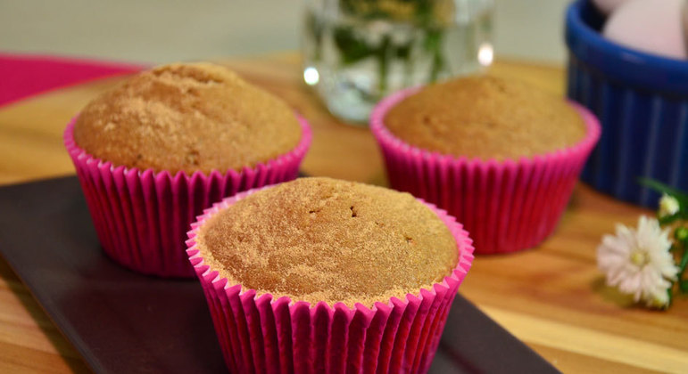 Muffin de chá verde com aveia