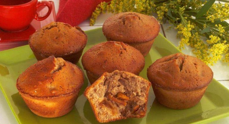 Muffin de manga, abacaxi e maple