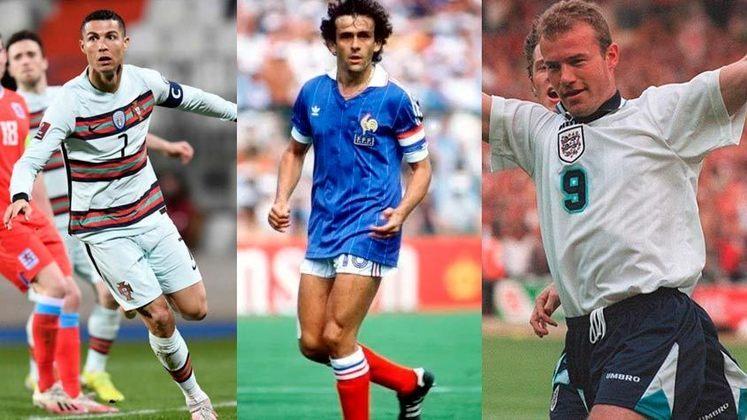 Muitos craques já balançaram as redes na Eurocopa. Passe para o lado e veja quais atletas anotaram muitos gols na competição: