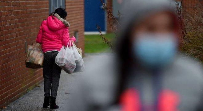 A taxa de pobreza dos EUA aumentou nos últimos cinco meses