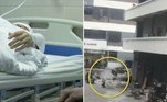 Uma faxineira milagrosamente sobreviveu após ser atingida na cabeça por por uma armação de cama