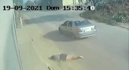 Imagem flagrou momento do atropelamento