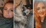 A inglesa Mia Flynn teve uma estranha surpresa ao acordar de uma noite de bebedeira: um cachorro gigante ao lado da cama dela, a observando. No vídeo que gravou assim que acordou, Mia relatou que