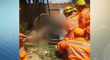 Bombeiros levaram 40 minutos para resgatar corpo