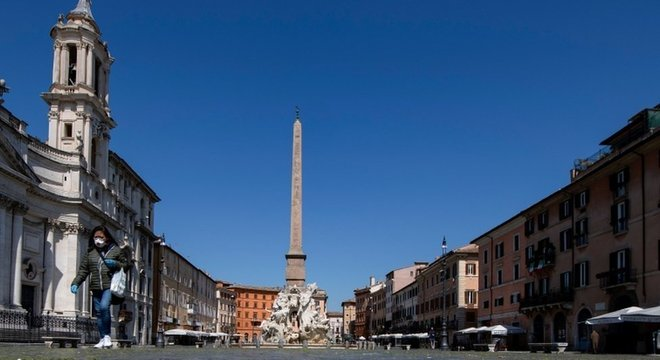 A Itália foi um dos países mais atingidos pela covid-19 até agora