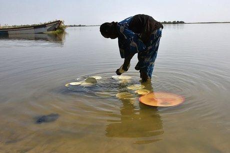 Lago Chade era a principal fonte de água do Cinturão do Sahel, uma área de extensão de 5 mil Km²