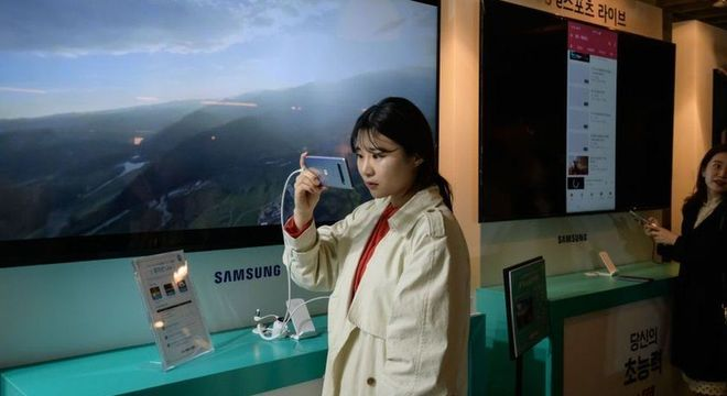 O Galaxy S10 5G oferecerá conexão até 20 vezes mais rápida que os celulares atuais