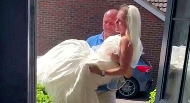 Depois da repercussão, marido se arrependeu de não ter colocado um terno