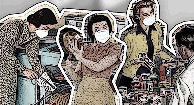 Segundo pesquisa, 50% das mulheres se tornaram responsáveis por tarefas de cuidado durante a pandemia