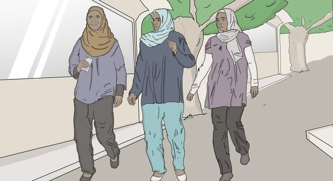 Entre 43 mil e 50 mil mulheres são presas ou apanham todo ano por essa polícia por causa do seu jeito de se vestir