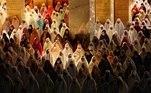 Mulheres em cerimônia do fim do Ramadã