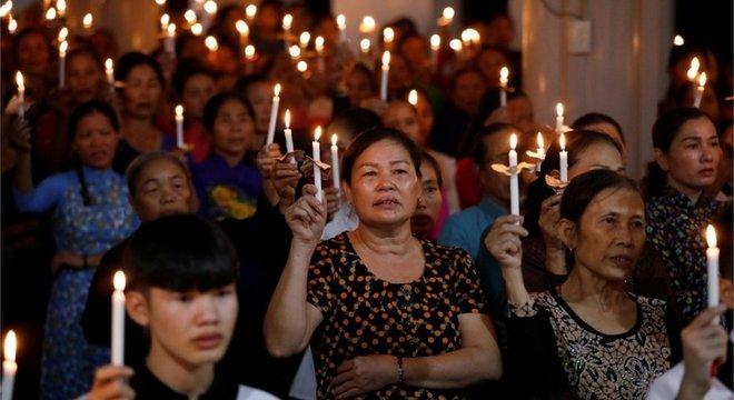 A comunidade católica na província de Nghe An ora pelos 39 mortos encontrados em Essex, muitos dos quais se presume serem desta localidade