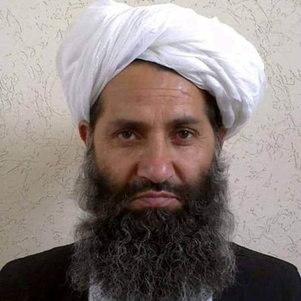 Mullah Haibatullah Akhundzada em foto do Twitter do Taleban