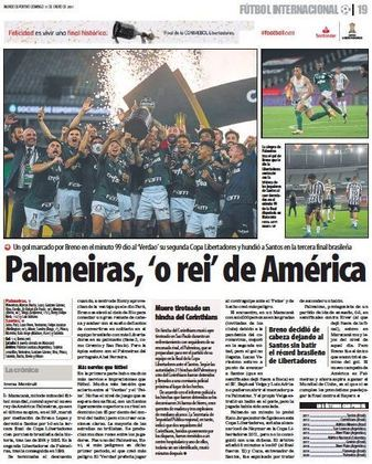 Mundo Deportivo - O diário de Barcelona também registrou a conquista palmeirense.