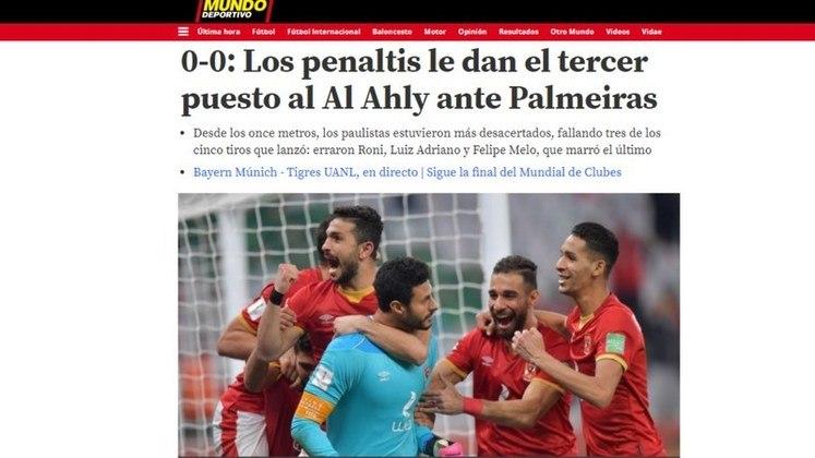 Mundo Desportivo -O diário de Barcelona destacou a conquista nas penalidades do Al Ahly.