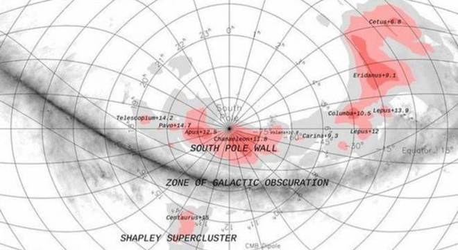 A Muralha do Polo Sul tem uma forma que lembra um arco