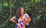 Aline Riscado desfilou comorainha de bateria da Unidos da Vila Isabelno ano passado