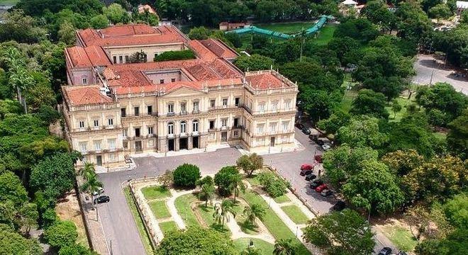Imagem do Museu Nacional do rio de Janeiro antes do incêndio