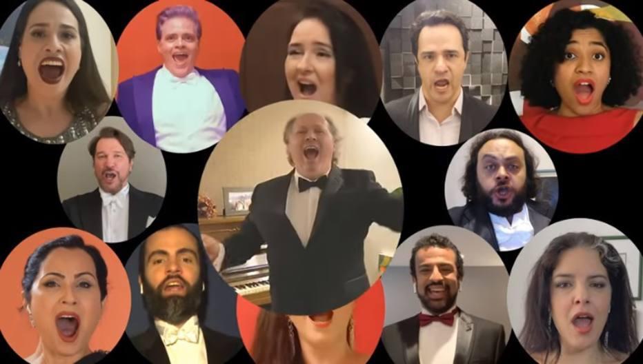 Músicos do Teatro Municipal gravaram vídeo homenageando profissionais da saúde