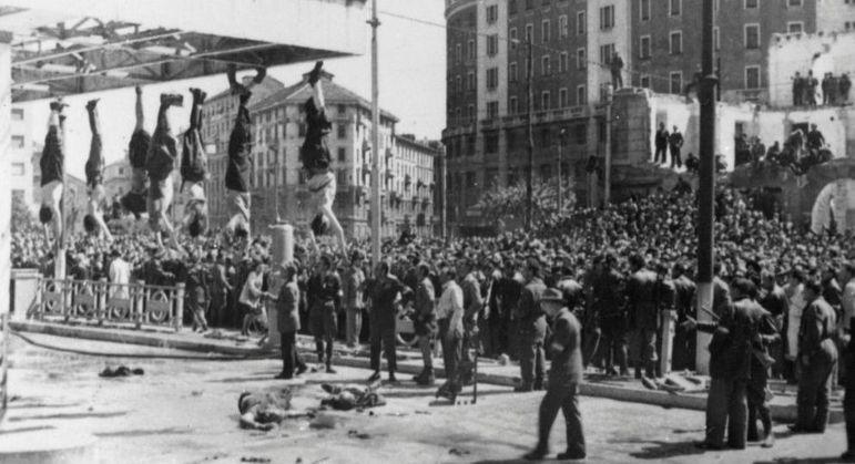 Mussolini e asseclas, o fim patético do Fascismo na Itália da II Guerra