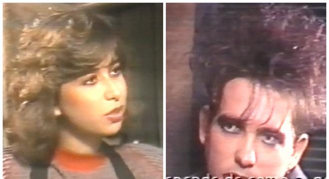 Mylena Ciribelli, em 1987, entrevistando Robert Smith, vocalista do The Cure