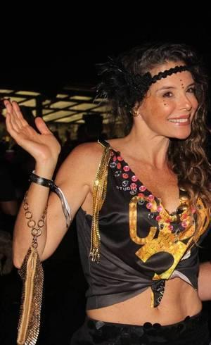 A atriz Mylla Christie dividiu seu Carnaval entre trabalho e lazer