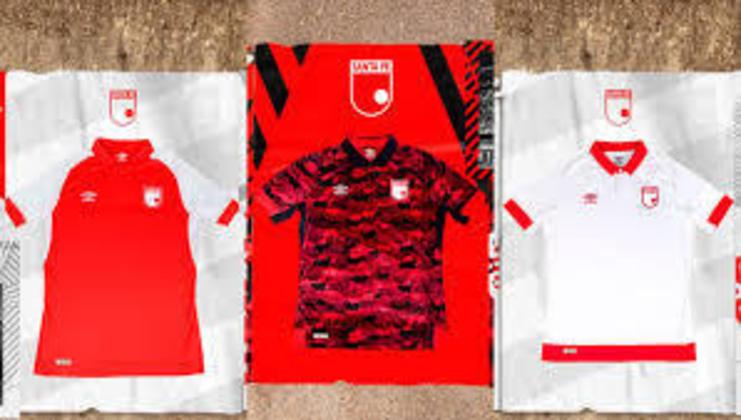 Na 49ª colocação, temos as camisas do Independiente Santa Fe, da Colombia. O uniforme custa 52,50 dólares, equivalente a 179.990 pesos colombianos. Sua fornecedora é a Umbro.