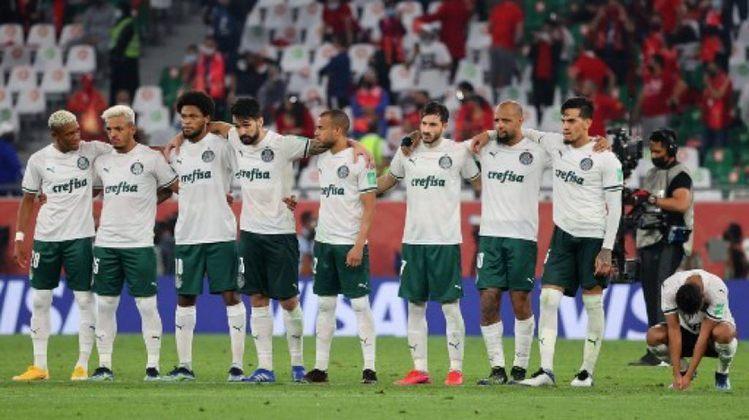 Na disputa do terceiro lugar do Mundial de Clubes, entre Palmeiras e Al-Ahly, alguns torcedores do time egípcio acompanharam a partida das arquibancadas do Education City Stadium, no Qatar.