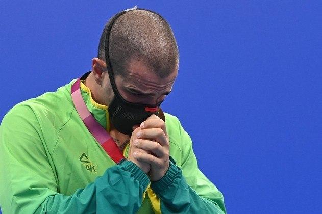 Na final dos 50m livre de natação, o brasileiro Bruno Fratus terminou em terceiro lugar e conquistou a medalha de bronze.