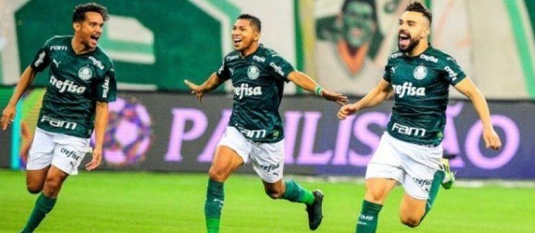 Jogadores do Palmeiras comemorando o título paulista no último sábado