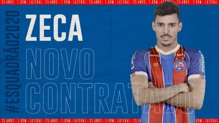 Na lateral-esquerda o emprestado é Zeca, que foi anunciado pelo Bahia até dezembro deste ano. Seu contrato com o Colorado se encerra em junho de 2022.