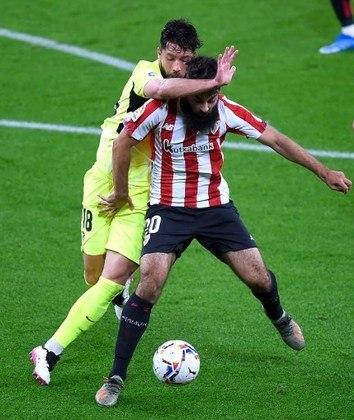 NA MÉDIA - Apesar da derrota do Atlético de Madrid, Felipe conseguiu se salvar com muitos duelos vencidos contra o Bilbao