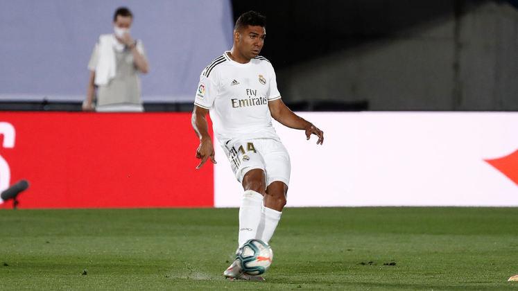 NA MÉDIA - Casemiro manteve sua regularidade no Real Madrid e desempenhou bom papel defensivo no duelo contra o Celta