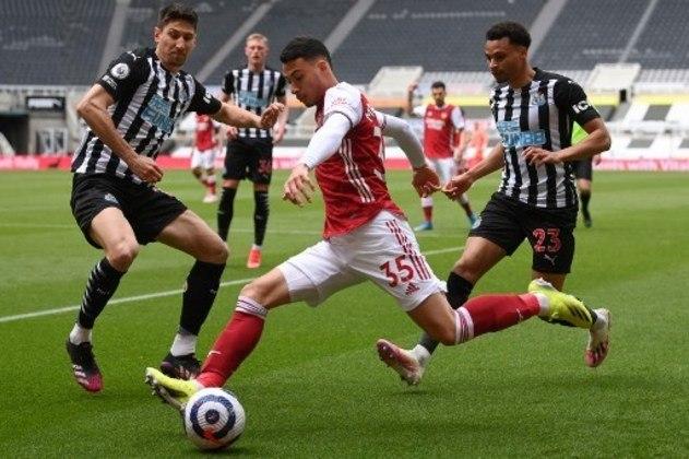 NA MÉDIA - Gabriel Martinelli conseguiu encontrar bom cruzamento para Aubameyang marcar o gol da vitória do Arsenal contra o Newcastle