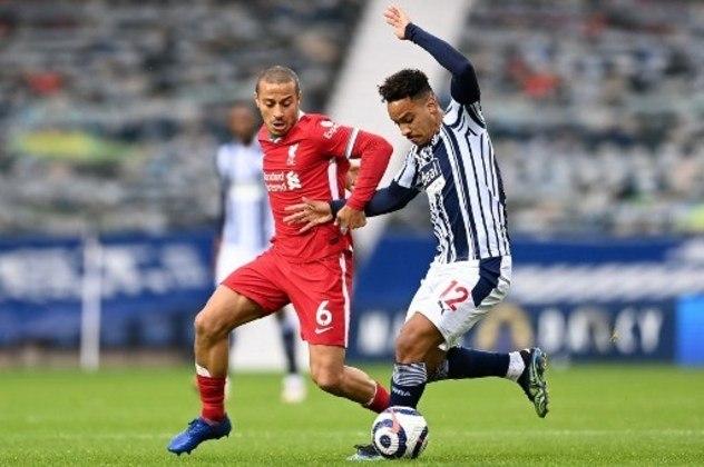 NA MÉDIA - Matheus Pereira construiu o primeiro gol do West Brom sobre o Liverpool e foi uma das principais armas ofensivas da equipe