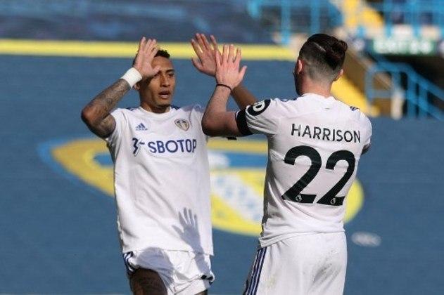 NA MÉDIA - Vivendo grande fase na Inglaterra, Raphinha deu assistência para o gol de Harrison contra o Sheffield United