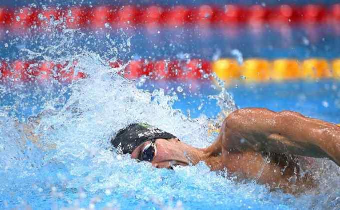 Na natação, o Brasil não conquistou medalha na final do revezamento 4x200m livre masculino. O quarteto formado por Fernando Scheffer, Murilo Sartori, Breno Correia e Luiz Altamir terminou a prova em oitavo lugar com o tempo de 7m08s22.