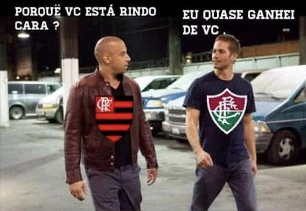 Na primeira partida da decisão do Carioca, o Fluminense até jogou bem, mas acabou derrotado por 2 a 1 pelo time de Jorge Jesus. O resultado, claro, rendeu memes nas redes sociais. Confira na galeria!
