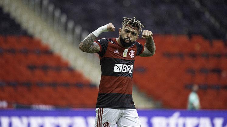 Na sexta posição está o Flamengo, com 10 pontos ganhos e um jogo a menos também. Sob o comando de Rogério Ceni, o time ainda não perdeu no Brasileirão e ainda sonha com o título.