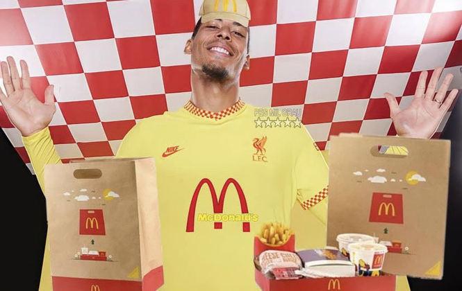 Na última semana, o Liverpool divulgou a sua terceira camisa para temporada 2021-22. Como é comum em camisas que misturam o amarelo com vermelho, o McDonald's foi lembrado.