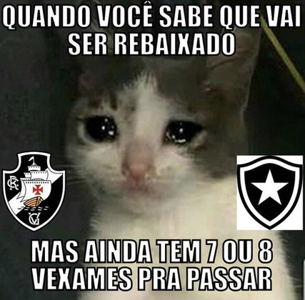 Na zona de rebaixamento do Brasileirão, Vasco é alvo de memes na web