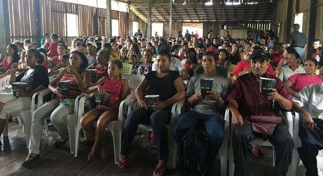 Sessões do Cinema Solidário têm distribuição de pipoca para o público
