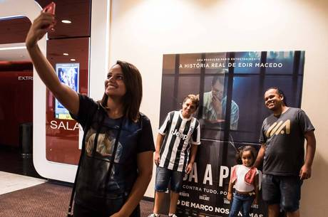 O cartaz do filme virou ponto para fotos no Eldorado