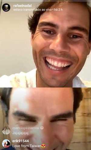 Nadal e Federer se divertiram