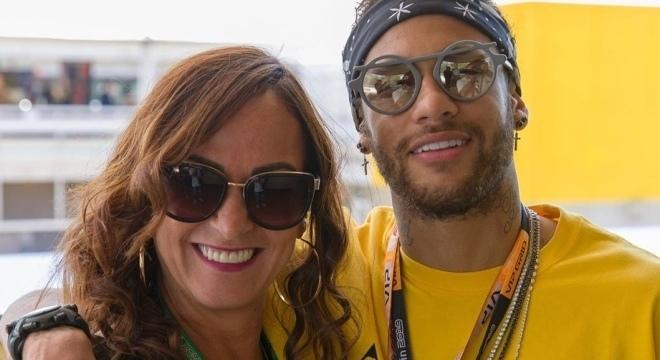 Nadine Gonçalves e Neymar no GP de Barcelona, no mês passado