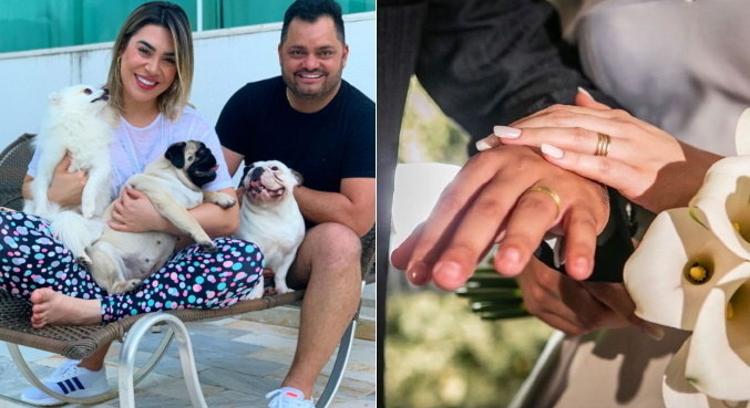 Naiara Azevedo e Rafael Cabral falaram sobre a decisão de terminar o casamento