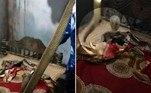 Um homem da aldeia de Harirajpura, no estado indiano deOdisha, foi surpreendido por uma naja de 1,5 m de comprimento sobre a cama onde dorme