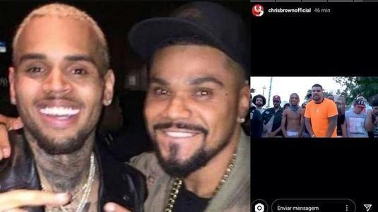 Após virar 'piada', Naldo prova que é mesmo 'brother' de Chris Brown! (Reprodução)