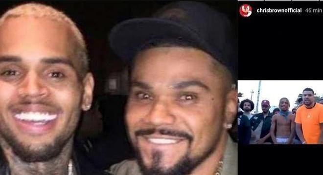 Chris Brown, Naldo e videoclipe do brasileiro na rede do astro internacional